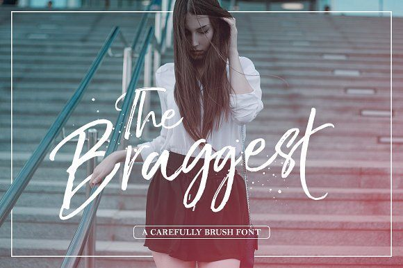 The Braggest (+Webfont) by Lostvoltype on @creativemarket - Madison how you feel about this?