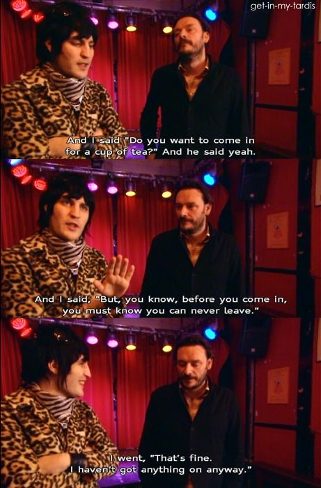 Mighty Boosh. First encounter folklore. Julian Barratt. Noel Fielding.