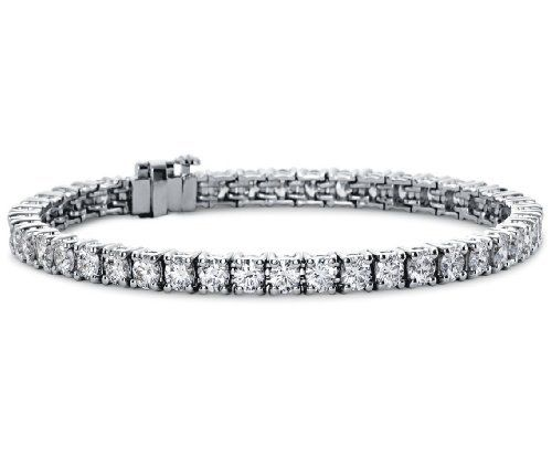 4.50 Ct TTW Lady's Round Cut Diamond Tennis Bracellet in 14 Kt White Gold AGK Diamonds. $4999.00