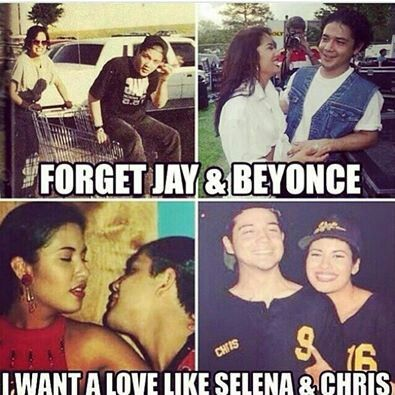 Finally, I found this! But, yes, I definitely want a relationship like Selena y Chris <3