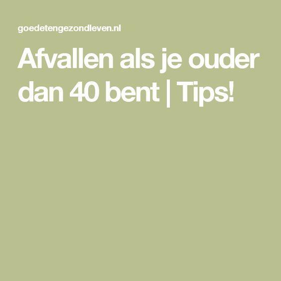 Afvallen als je ouder dan 40 bent   Tips!