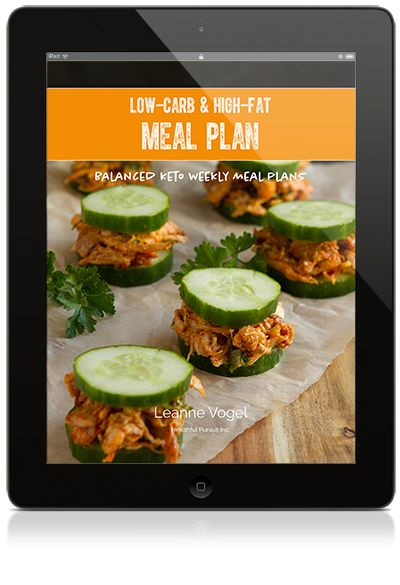 iPad with cover of Balanced Keto Meal Plans