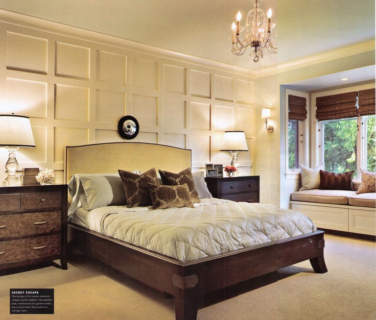 Wall trim master bedroom lake house casual elegance for Casual master bedroom ideas