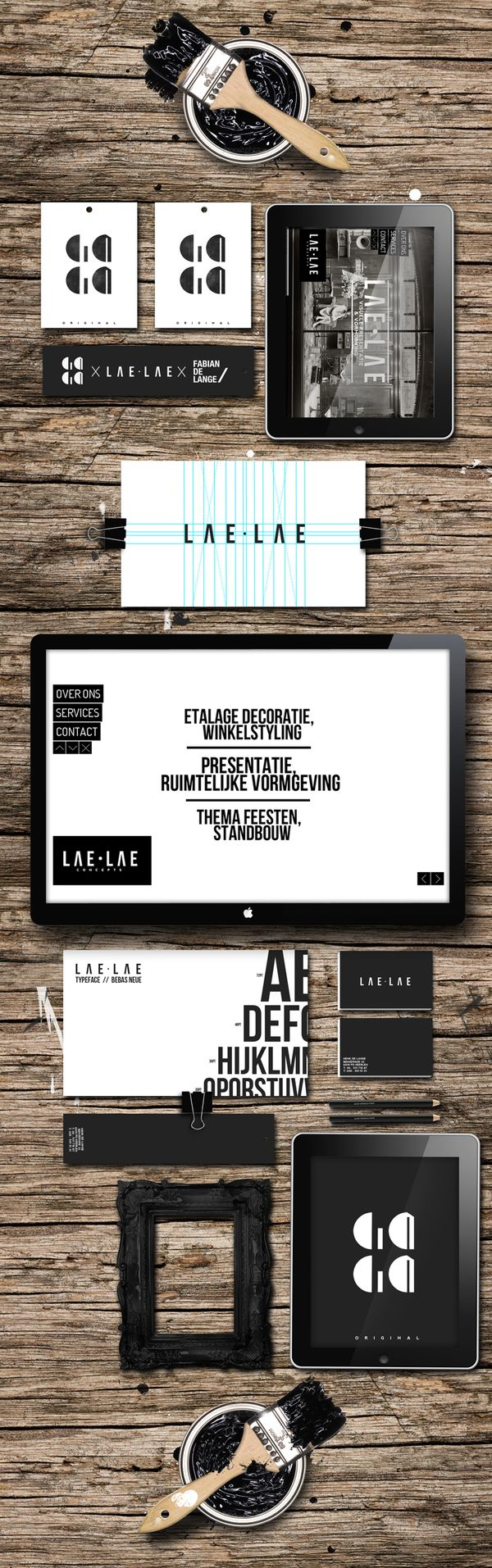 LAE.LAE, corporate + visual identity, branding by Fabian de Lange