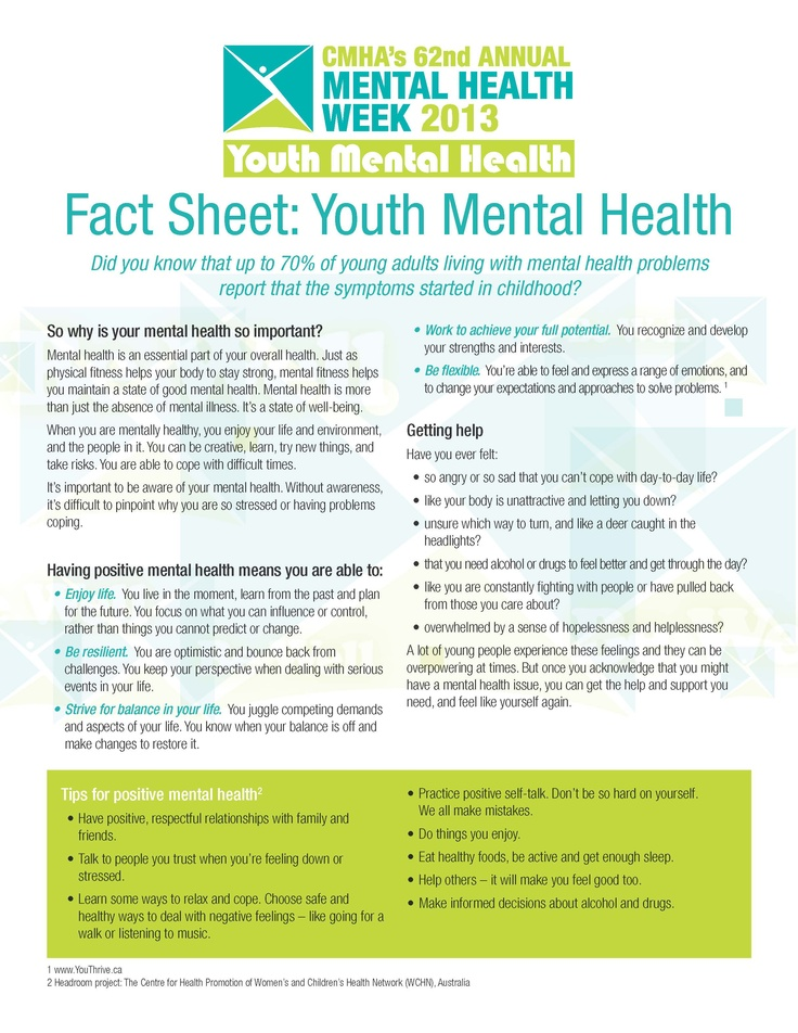 youth mental health Occupational therapy practitioners play an important role in mental health promotion, prevention, and intervention with children and youth children and youth with or.