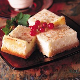 Eggnog cheesecake bars. Not a huge fan of eggnog but these are good! And easy!