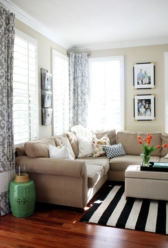 25 best ideas about striped rug on pinterest for Black and beige living room ideas