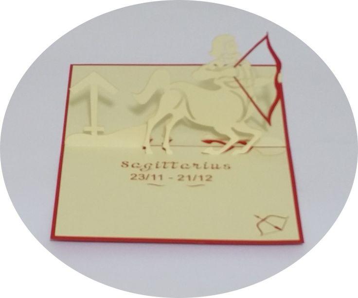 Sagittarius 23 November – 21 December - 3D Pop Up Cards - Greeting Cards - Ovid Gifts