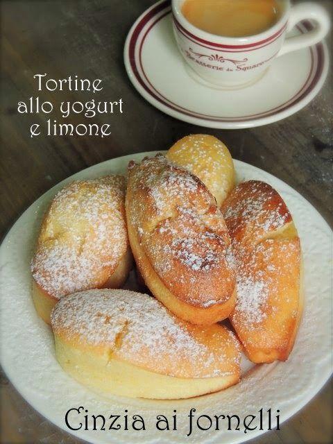Cinzia ai fornelli: Tortine allo yogurt e limone