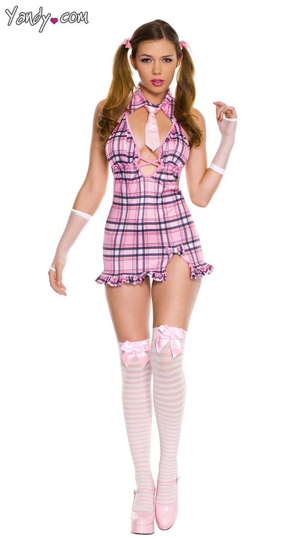 Rosa Ragazza Costume Scuola
