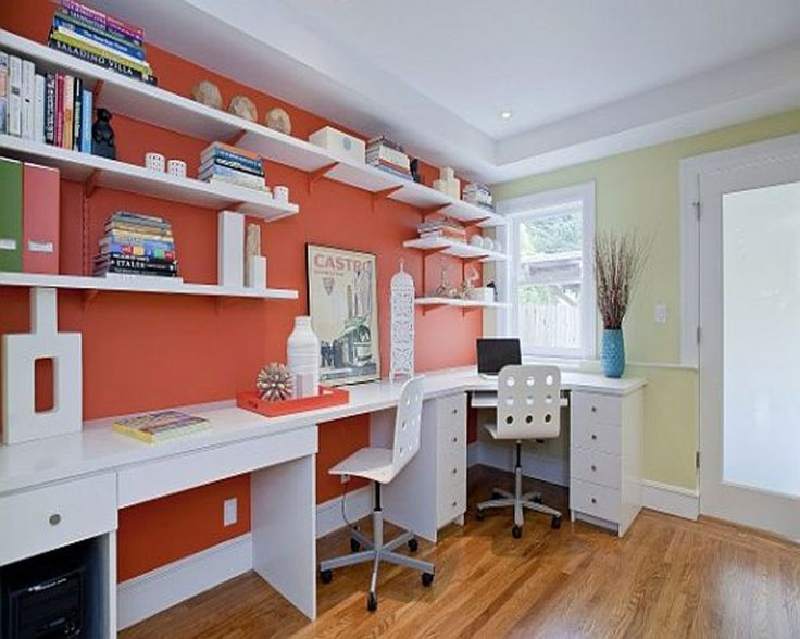 office workspace white bookcase white working desk white working chair colorful design home office. Interior Design Ideas. Home Design Ideas