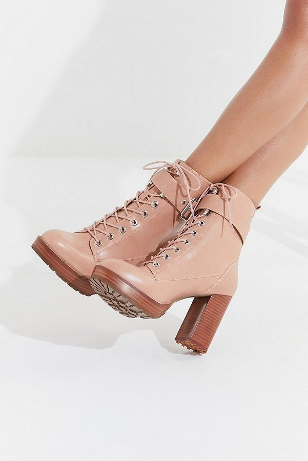bdefb8e83890e0 UO Kennedy Heeled Lace-Up Boot in 2019