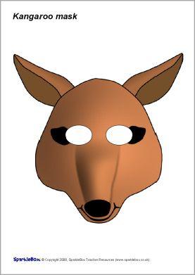 Kangaroo role-play mask (SB1371) - SparkleBox