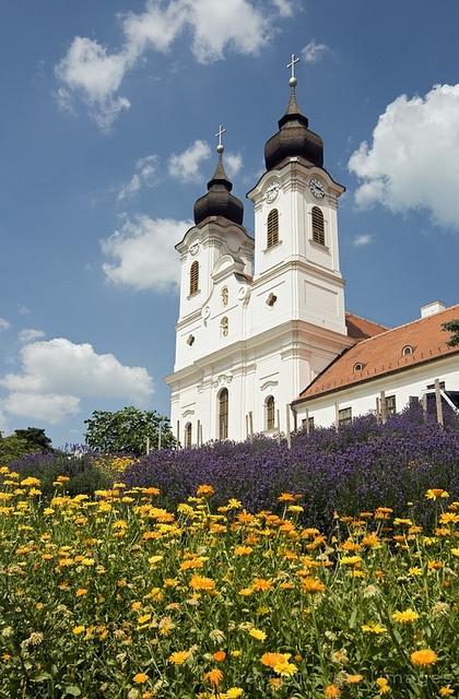 Baroque Benedictine Abbey in Tihany, Balaton, Hungary