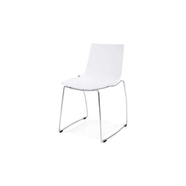 Eetstoel CH01160WH van het merk Kokoon heeft een zitting en rugleuning gemaakt van Polypropylene. Het frame van de stoel is van chroom gekleurd staal. Onder de poten zit vloer-protectie.