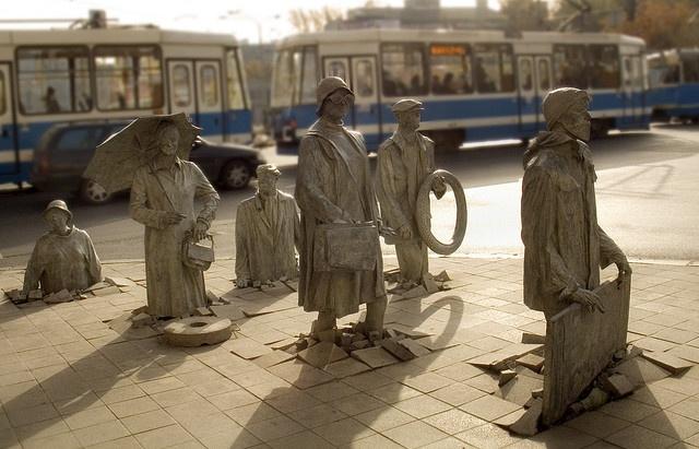 Poland Wroclaw statues