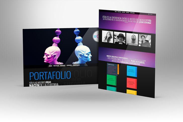 """Diseño y maquetación del sitio web """"Agencia Euforia""""."""