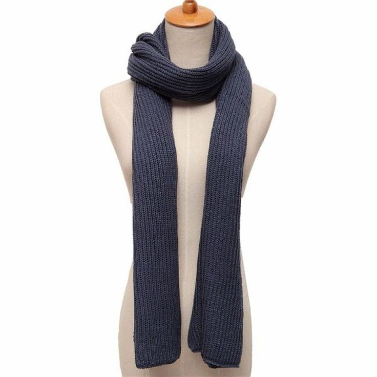 Men Women Pure Color Knitted Scarf Soft Thickness Woolen Scarf Winter Warm Long Scarves - Gchoic.com