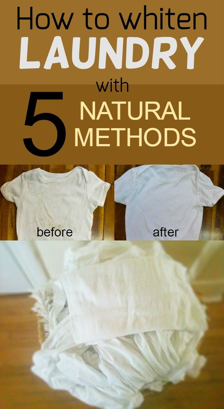 How to whiten laundry with 5 natural methods - 101CleaningTips.net