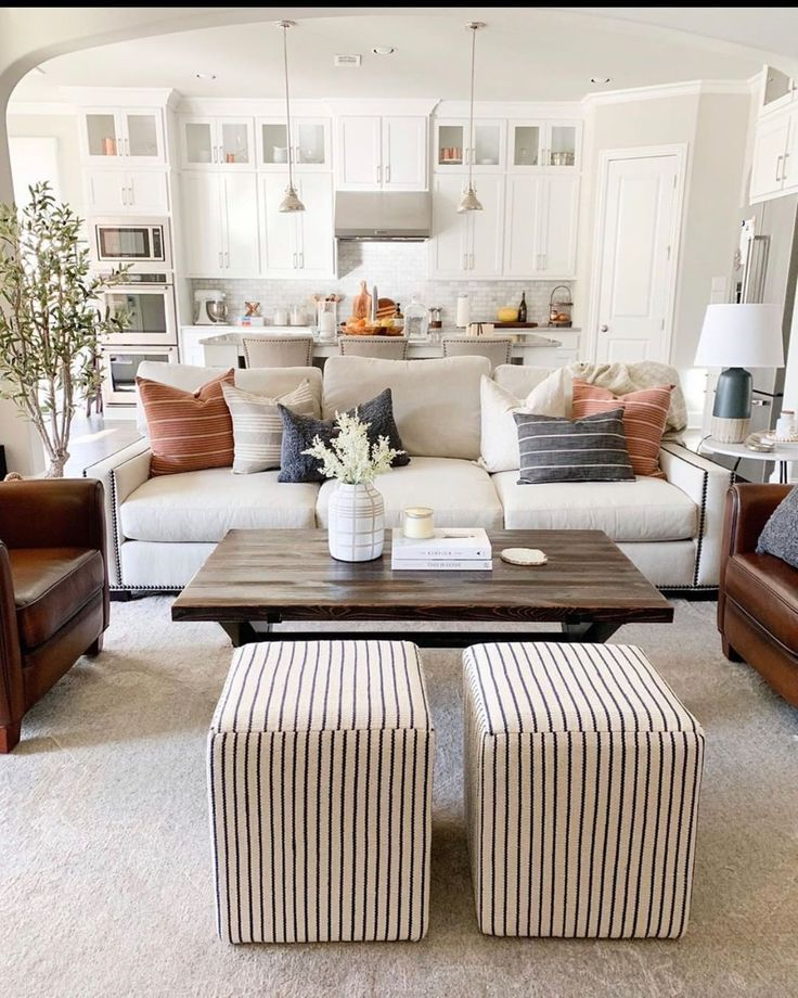 Open Floor Plan Neutral Decor In 2020 Home Living Room Living Room Designs Home And Living