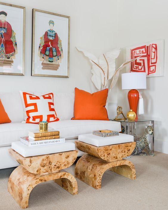 Orange White Chinoiserie Chic Orange Nippon Paint Singapore