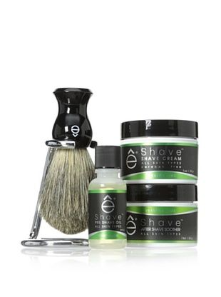 50% OFF eShave 4-Piece Minimalist Kit with Stand in Verbena Lime Scent, Black
