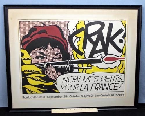 Roy Lichtenstein *CRAK*: Roylichtenstein, Pourla, Pop Art, For, Comic Books, Crak, La France, Popart, Roy Lichtenstein