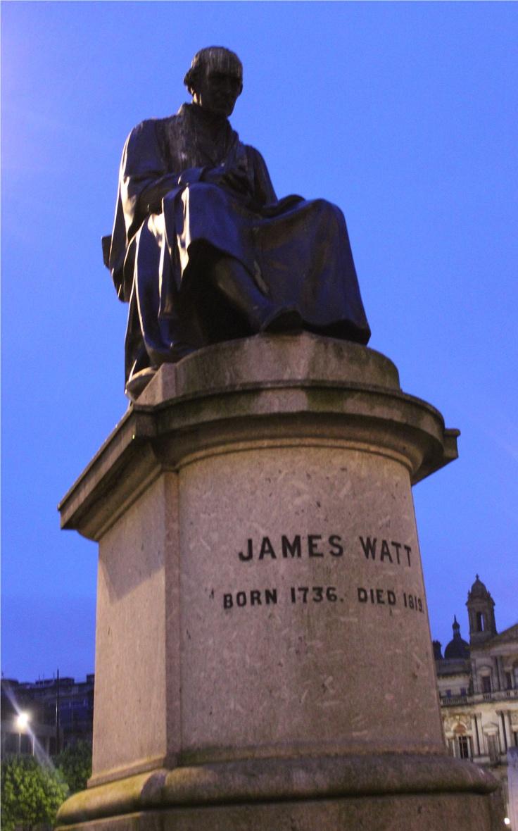 James Watt in George Square - Glasgow, Scotland