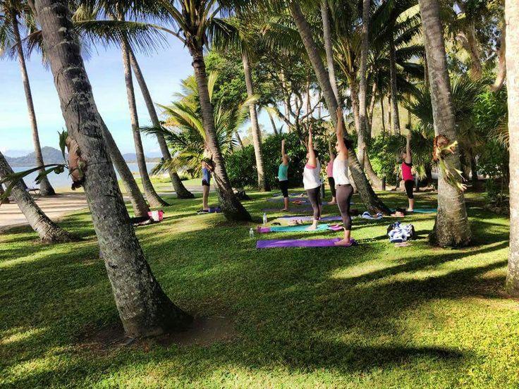 Yoga in.palm cove
