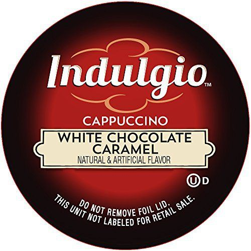 Indulgio Cappuccino, White Chocolate Caramel, 12-Count Single Serve Cup for Keurig K-Cup Brewers - http://bestchocolateshop.com/indulgio-cappuccino-white-chocolate-caramel-12-count-single-serve-cup-for-keurig-k-cup-brewers/