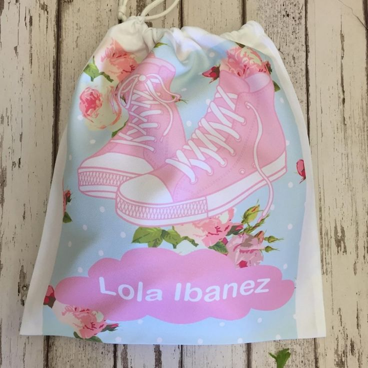Personalised Gym/shoe bag ESTIMATED DELIVERY TIME - 3-5 working days, delivery times are estimated and sometimes may take a little longer, if you would like your order sooner then please contact us before payment is made and if possible we will process your order sooner. PRODUCT DESCRIPTION - 100% polyester white gym bag, ideal for carrying shoes/trainers to school. Generously sized 37 x 32 cm bag, with a drawstring top.  ADDITIONAL INFO POSTAGE & PACKAGING - Postage costs are £2.50 for the…