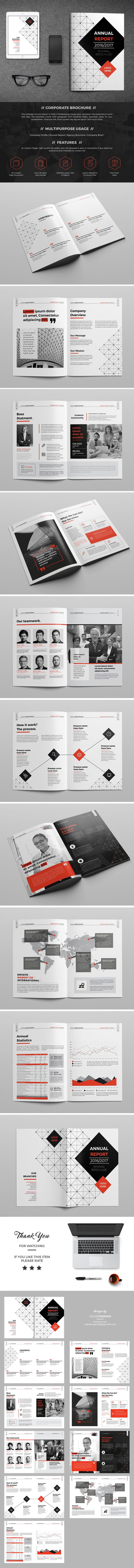 This InDesign Brochure is Clean & Professional. Create your company's documentation quick and easy. The template comes with paragraph and character styles, swatches, styles for your spreadsheet / financial info, block quotes, key figures layout, and much …
