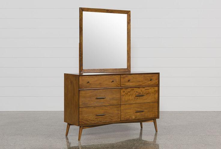 Alton Cherry Dresser/Mirror - Signature