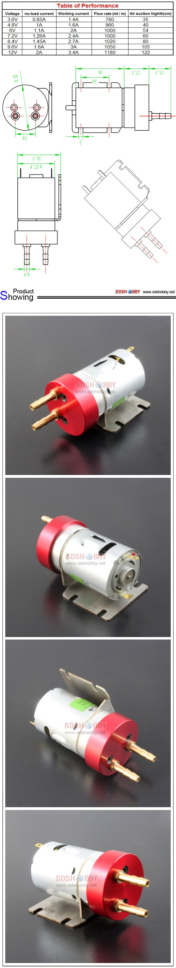 New Design DIY Electric metal gear pump for smoke system (Whole metal)