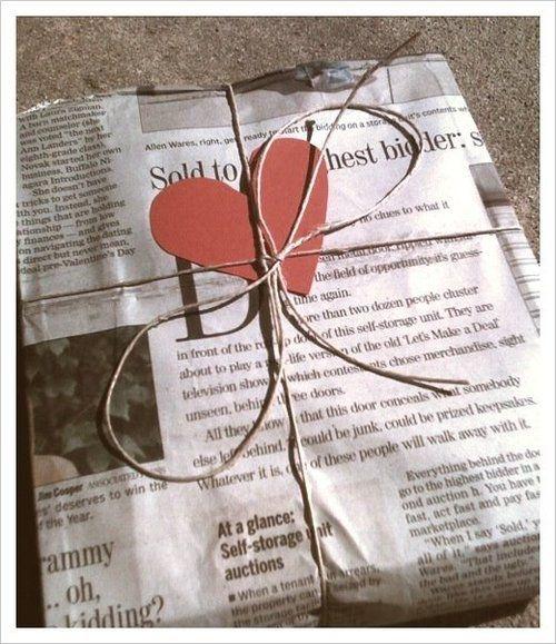 Envoltorio reciclado de San Valentín