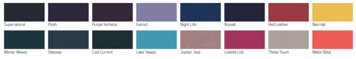 Dulux 2016 Colour Forecast Infinite Worlds. Friday's Favourites, Gallerie B