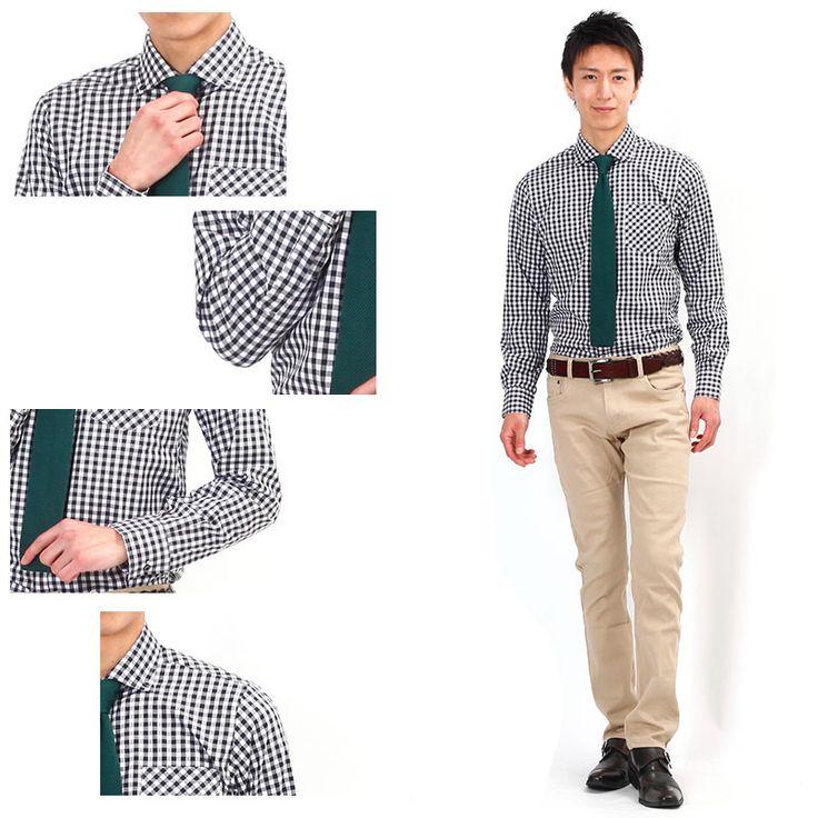 【オフィスでセンスを魅せるチェックシャツはコレ!】ビジカジスタイルチェックシャツ 日本製 Biz - メンズビジネスカジュアル(ビジカジ)通販
