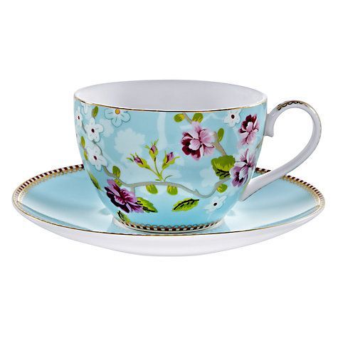 Buy PiP Studio Shabby Chic Cappuccino Cup and Saucer, 0.3L, Multi Online at johnlewis.com