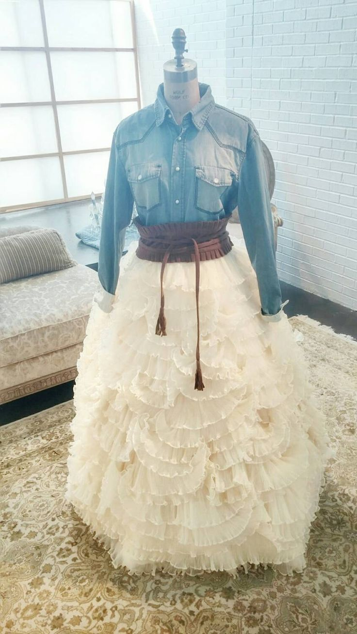Country Chic Unique Wedding Dress ruffled by IDoCoutureBridal