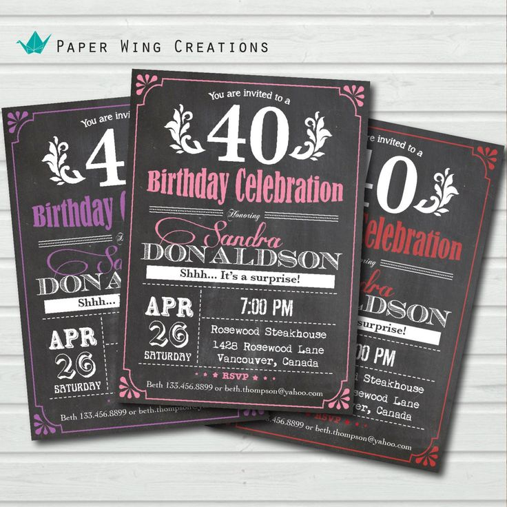 Best Birthday Invitations Template Images On Pinterest - Retro birthday invitation template