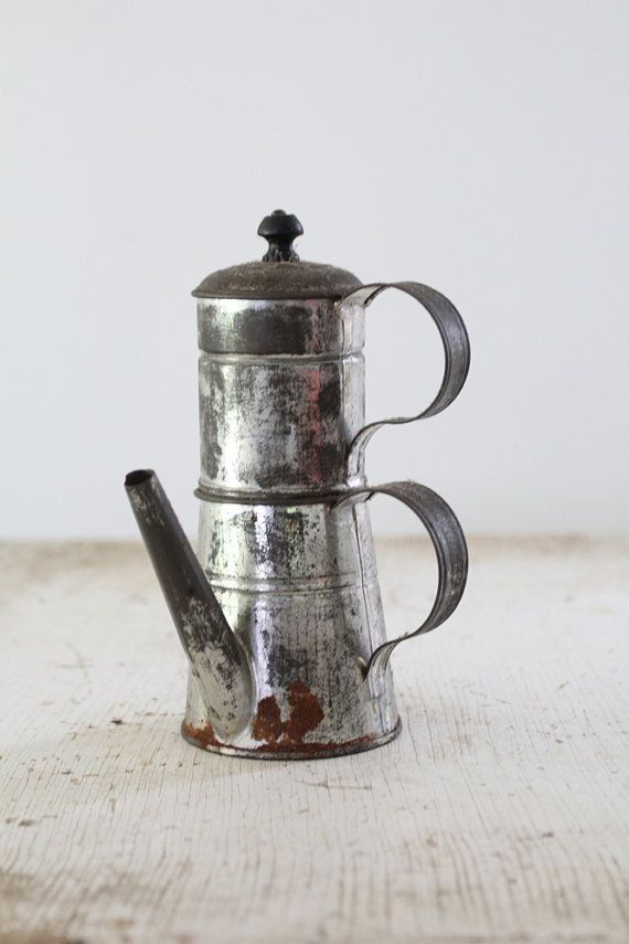 Antique Coffee Percolator // Small Coffee Maker by 86home on Etsy, $38.00