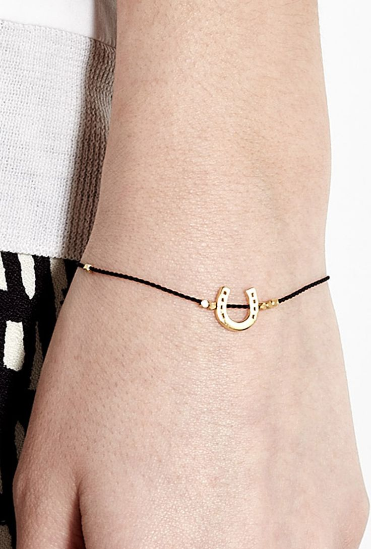 Karma Gold Horse Shoe Bracelet by Daisy Jewellery