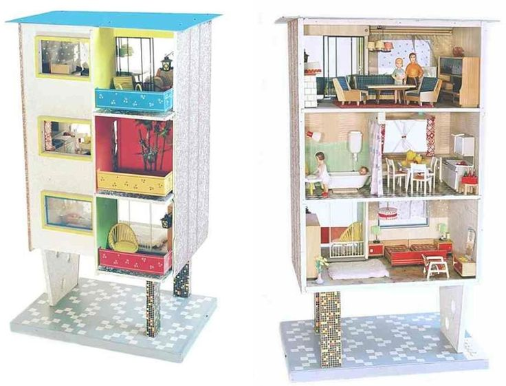 Mid-Century Modern Doll Houses Images