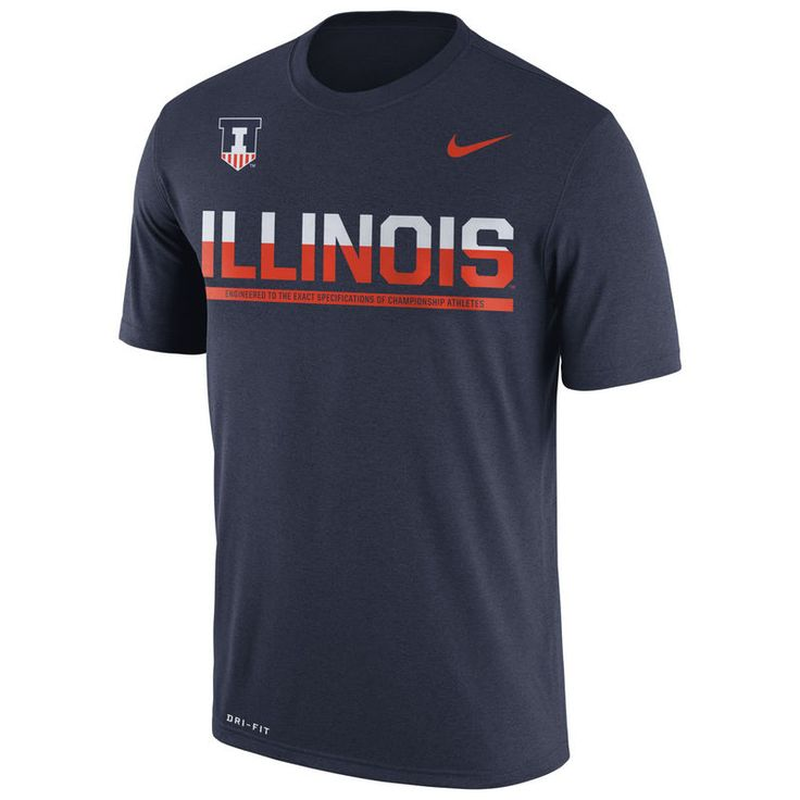Illinois Fighting Illini Nike Staff Sideline Dri-FIT Legend T-Shirt - Navy