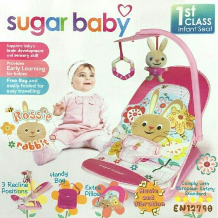 Sugar baby infant seat plus toy bar rossie rabbit1sr 3pcs x@205rb