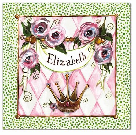Personalized Princess Canvas Reproduction