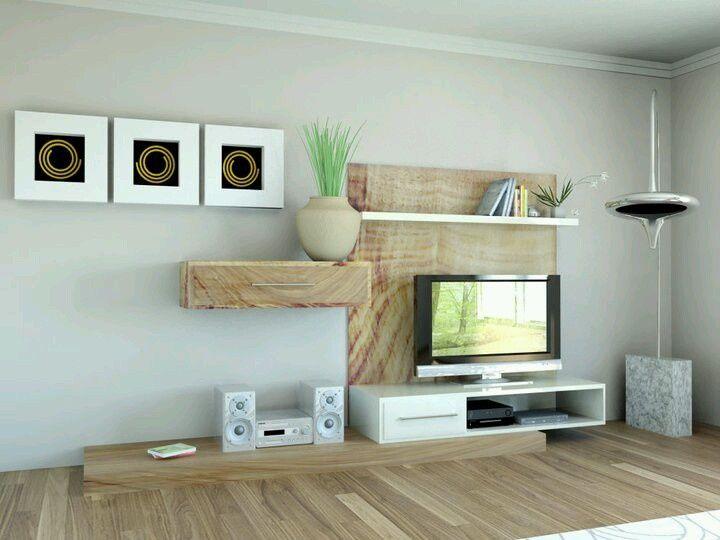 TV Unit Light Neutral Earthy Colors