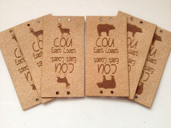 Custom tag ultra suede tag fabric custom tag by Sweetpinehills