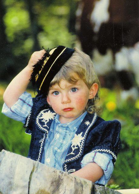 A boy in Swiss costume, Switzerland
