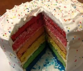 Recipe Rainbow Cake by Russella - Recipe of category Baking - sweet